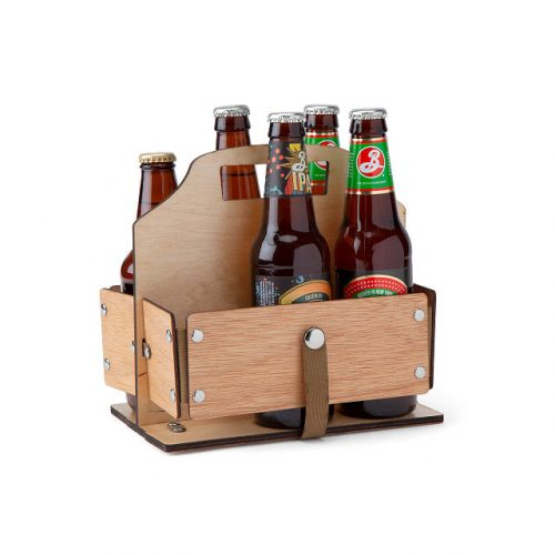 Uncommon goods foldable beer caddy