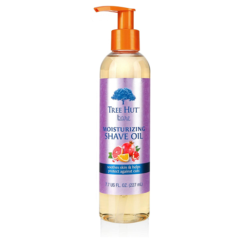treehut bare moisturizing shave oil with pomegranata citrus scent
