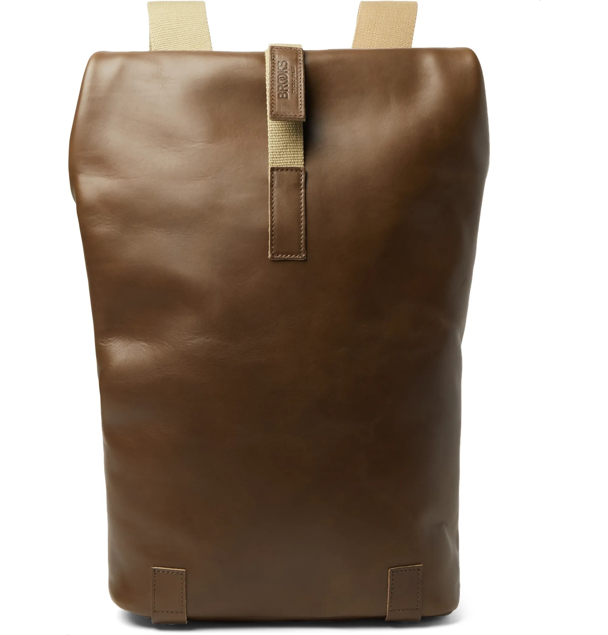 best work bags for men - brown leather backpack