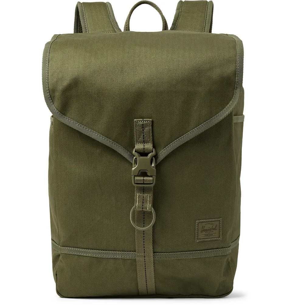 best work bags for men - Green canvas backpack