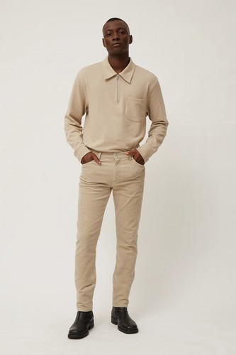 Beige Weekday Sunday 5 pocket corduroy trousers