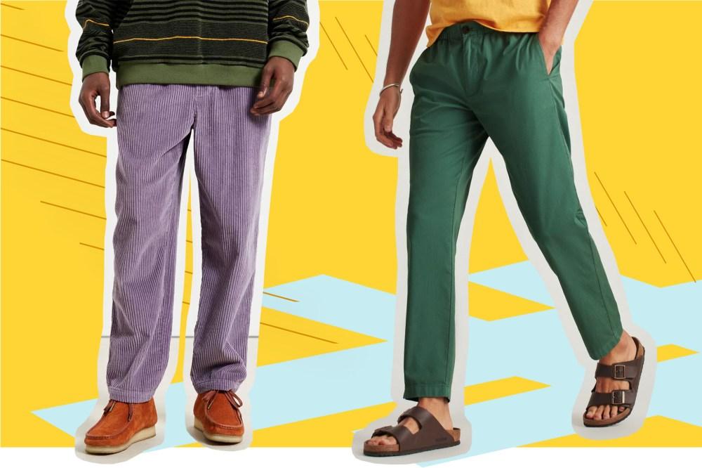 WULFUL Men Casual Beach Trousers Linen Summer Pants