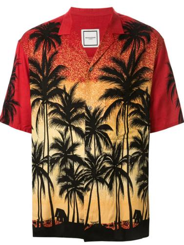 wooyoungmi palm tree silhouette hawaiian shirt