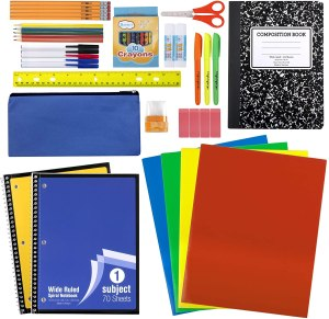 45-piece school supply set, back to school shopping