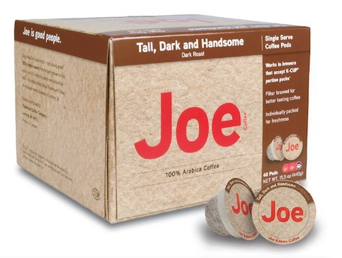 Joe Knows Coffee, Tall Dark and Handsome Pods, 40-count, best keurig pods