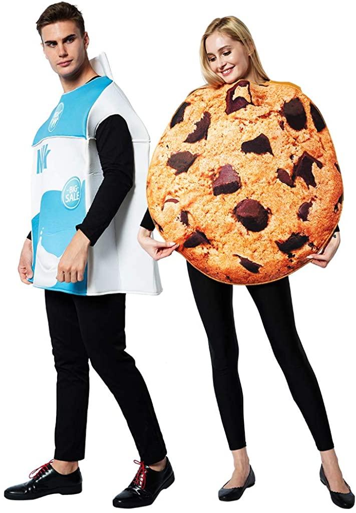 ReneeCho Couple Cookies and Milk Carton Box Costume
