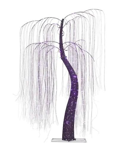 7 ft. LED 600-Light Purple Willow Tree