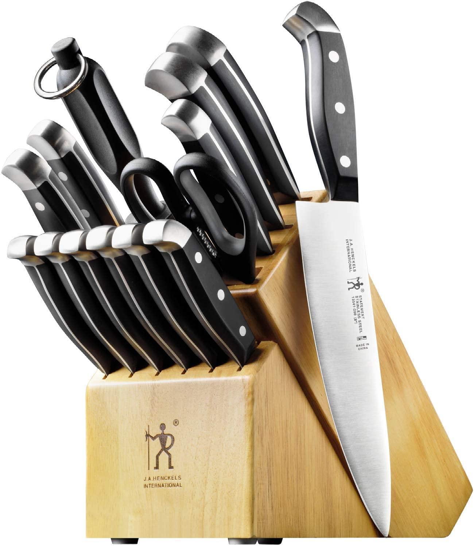 J.A. Henckels 15-Piece Knife Block Set