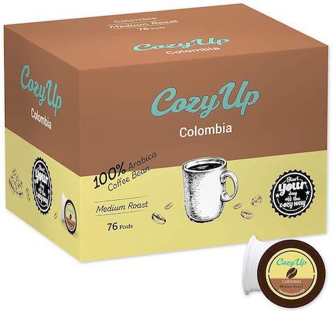 best Keurig pods CozyUp Medium Roast Colombian Coffee