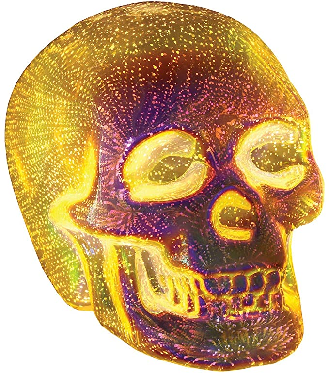 Halloween decor light up skull