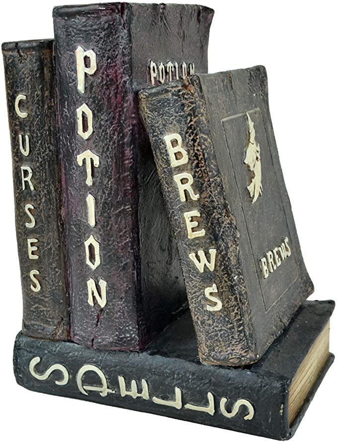 Halloween decor spell books