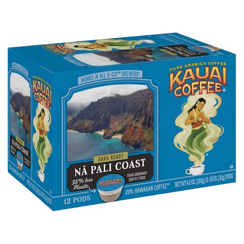 Kauai Coffee Single Serve Pods, 12-count, best keurig pods