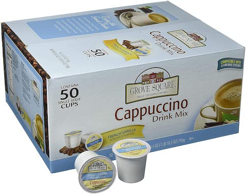 best keurig pods Grove Square Cappuccino, French Vanilla 50-count