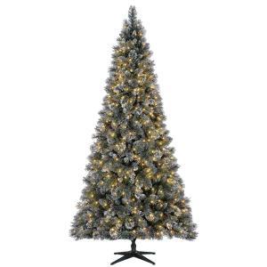 9ft sparkling amelia pine, pre-lit Christmas tree