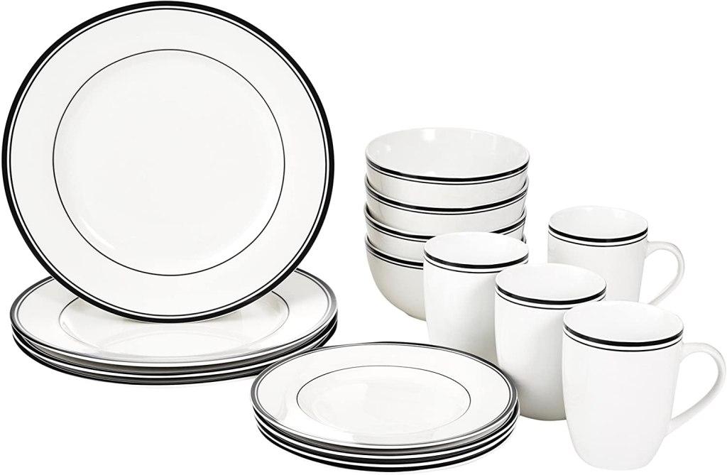 AmazonBasics 16-Piece Dinnerware Set, best dinnerware sets