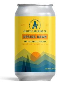 Athletic Brewing Upside Dawn, non-alcoholic beer, best non-alcoholic beer
