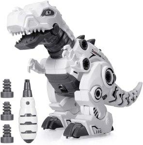 BEESTECH LED Walking Robot Dinosaur Toy