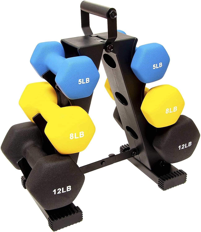 BalanceFrom GoFit dumbbells set with rack