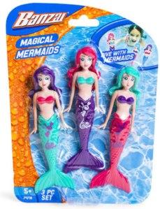 Banzai mermaid dolls, best pool toys