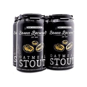 Bravus oatmeal stout, non-alcoholic beer