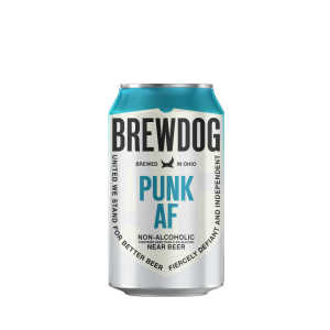 Brewdog Punk AF beer, non-alcoholic beer