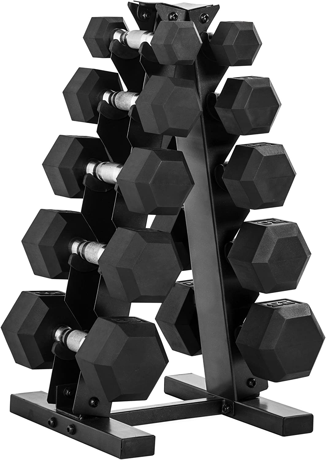 CAP Barbell dumbell set with rack