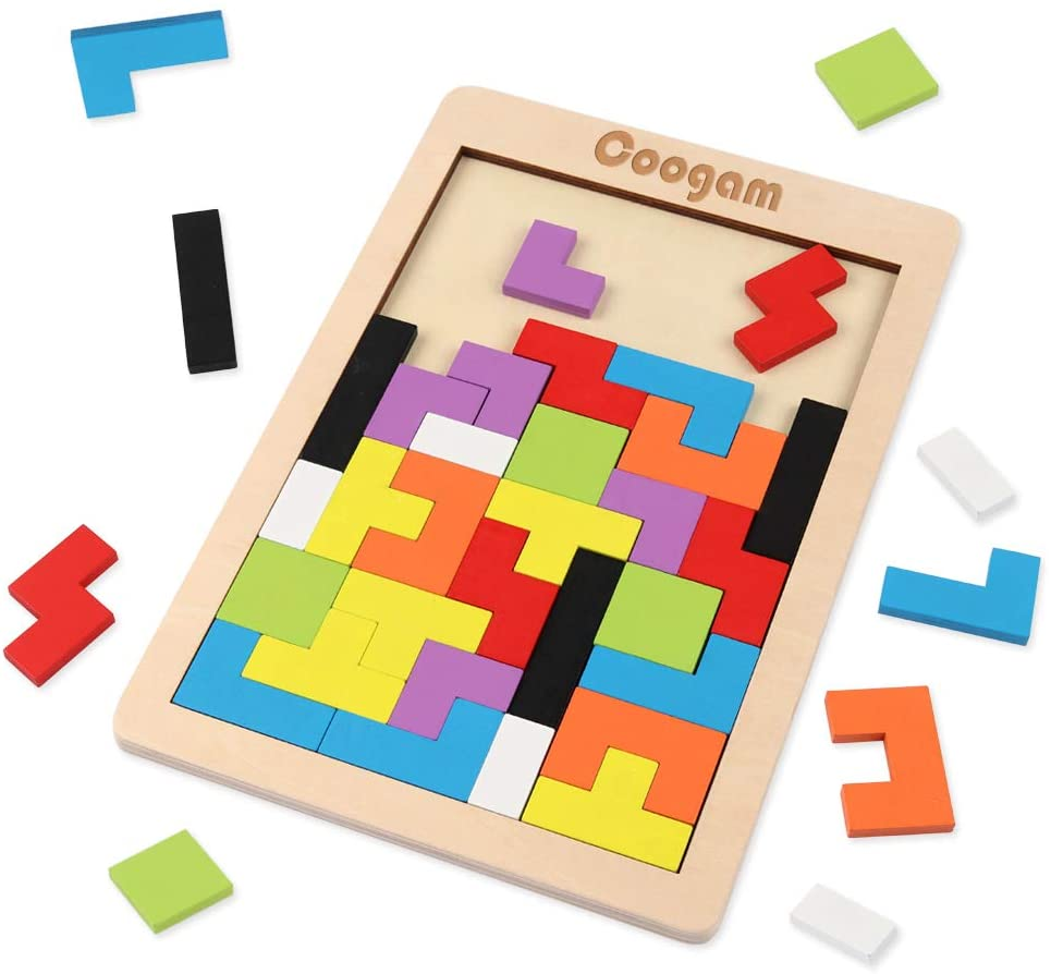 Coogam Wooden Blocks Puzzle