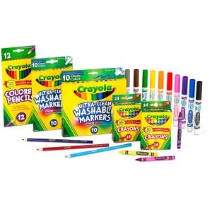 crayola art set, back to school shopping