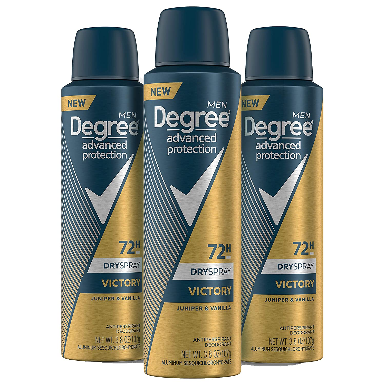 Degree Antiperspirant Deodorant Spray three-pack