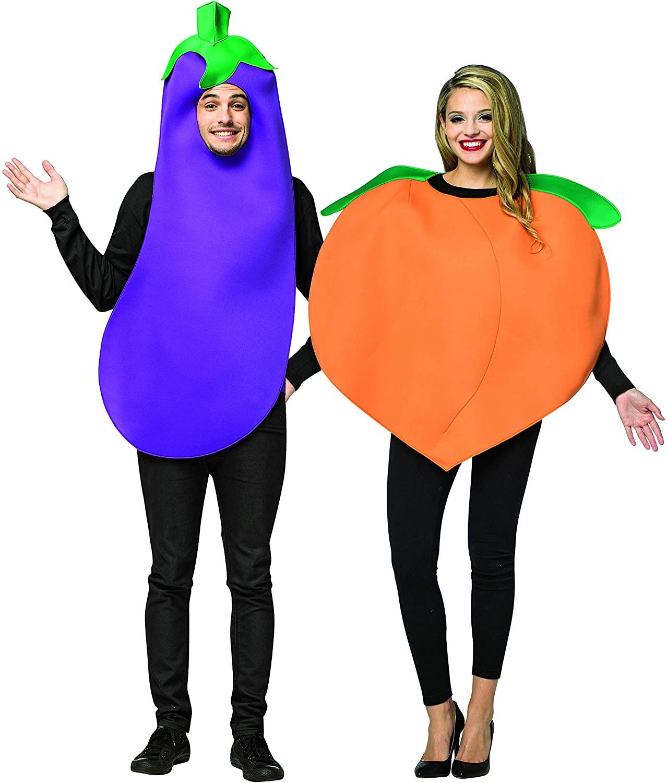 Eggplant & Peach Couple Set Purple