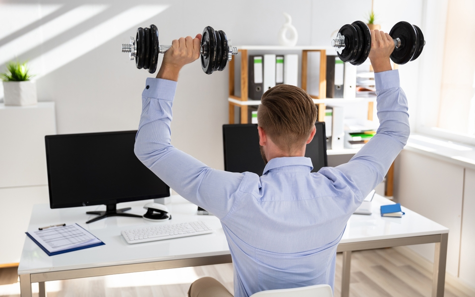 desk exercise equipment, how to workout