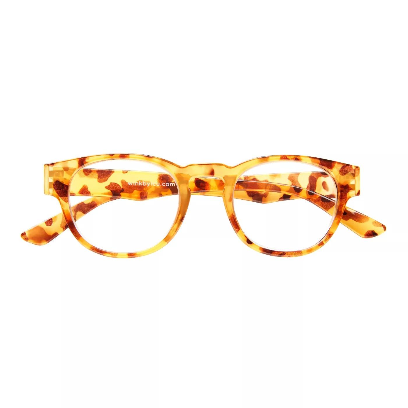 ICU Wink Rocklin Tortoise Floral Reading Glasses