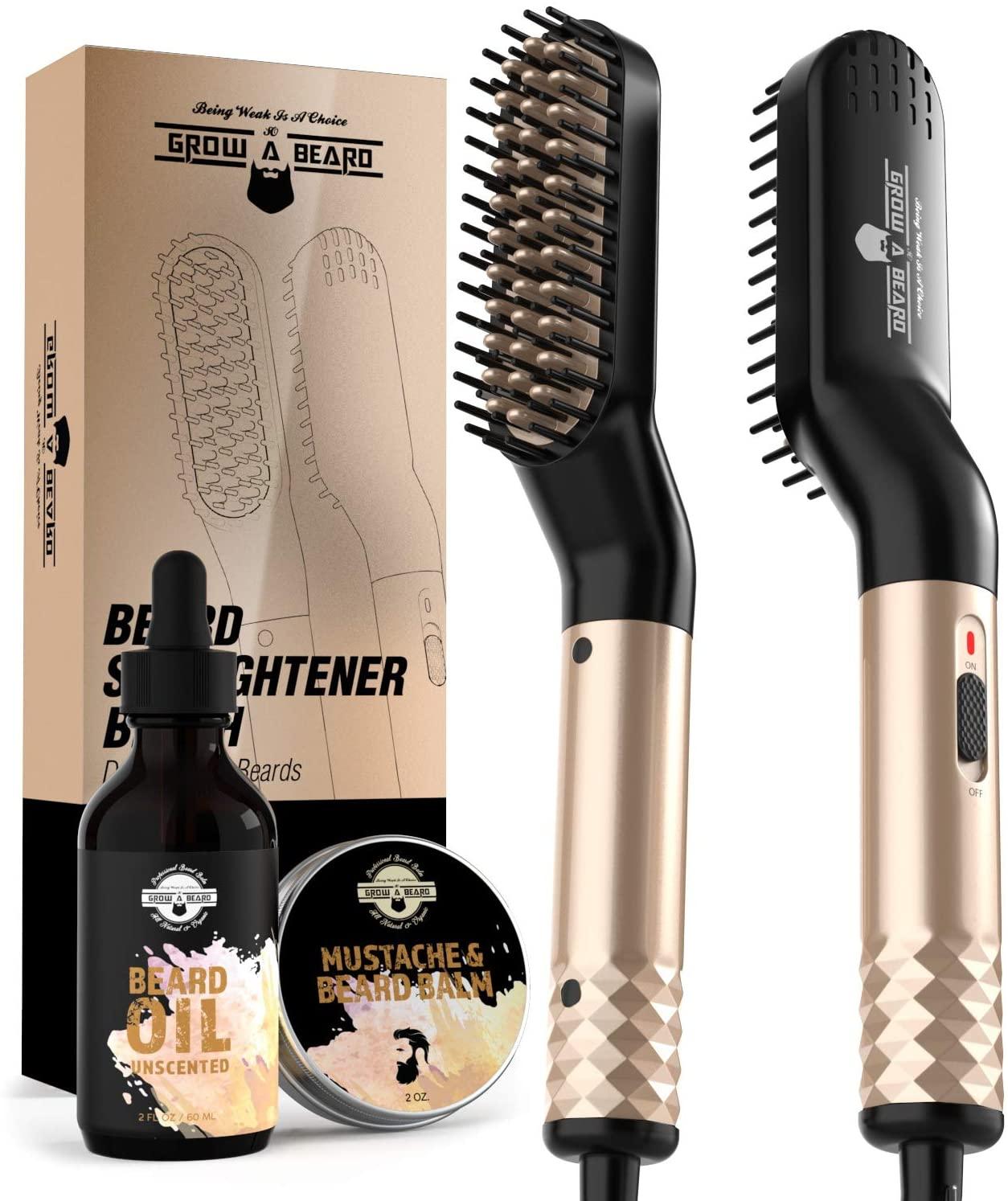 Grow Alpha Beard beard straightener