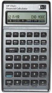 hp 17bii financial calculator silver