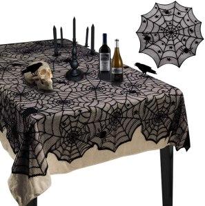 Halloween tablecloth, halloween decoration ideas