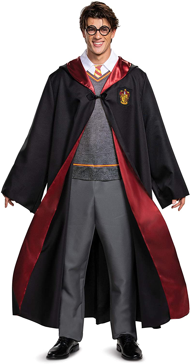 Man wears a Harry Potter costume; work appropriate Halloween costumes