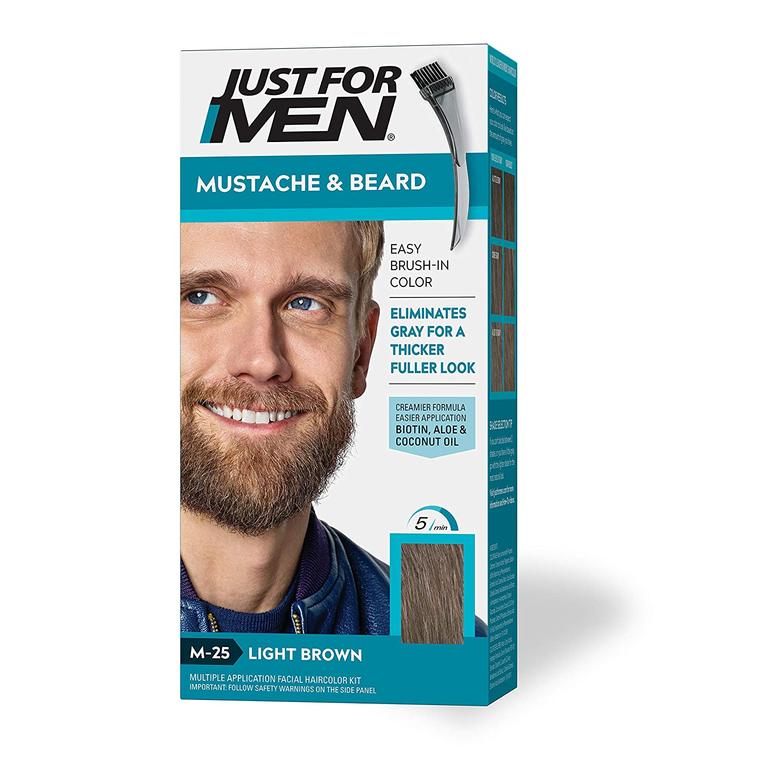 Just For Men mustache and beard dye coloring