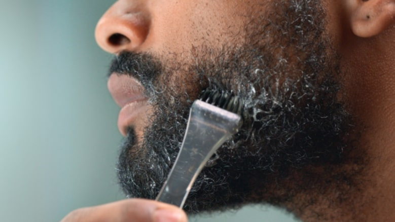 Man uses Just For Men beard