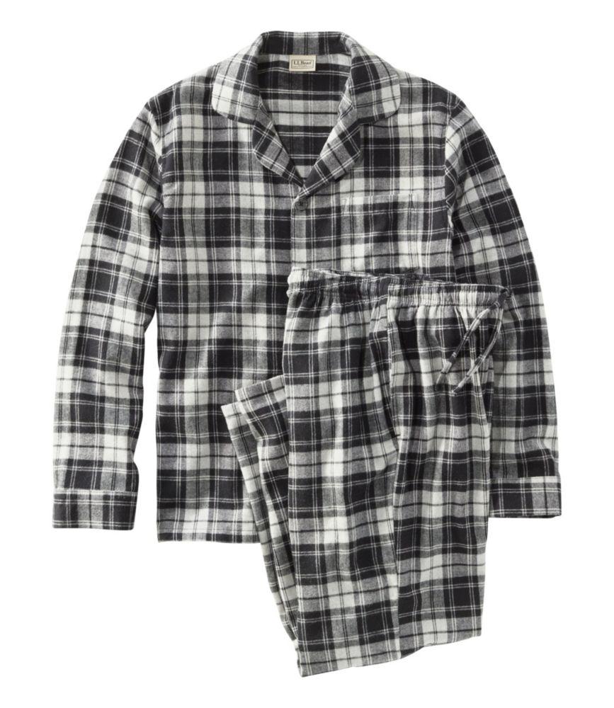 L.L. Bean Men's Scotch Plaid Flannel Pajamas Set; best men's pajamas