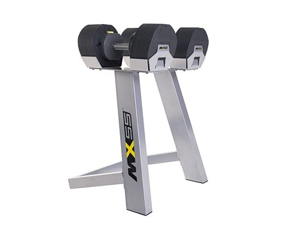 MX Select 55 Adjustable Dumbbells with stand
