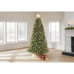 manchester white spruce, pre-lit Christmas tree