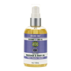 Uncle Bud's 120mg CBD Massage & Body Oil