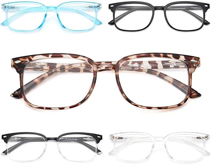 NOVIVON 5-Pack Blue Light Blocking Reading Glasses