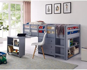 naomi home low study loft bed