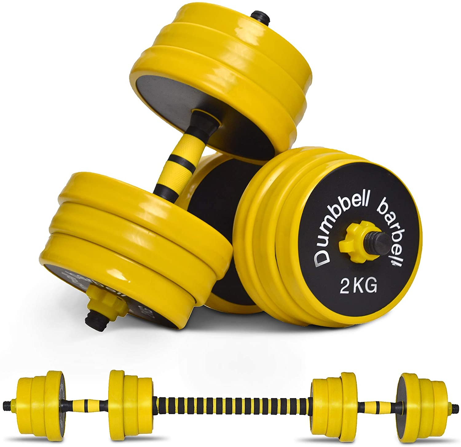 Nice C adjustable dumbbells with barbell