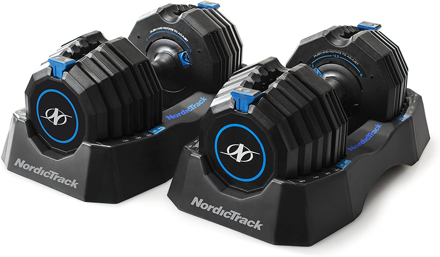 NordicTrack Select-A-Weight adjustable dumbbells