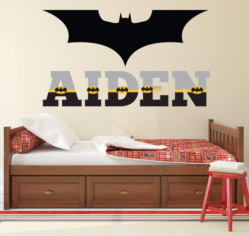 Personalized Name Wall Decal Batman