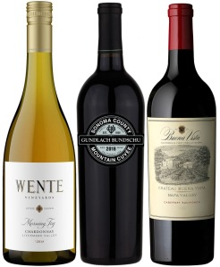 Pioneers of California Wine Tasting Trio