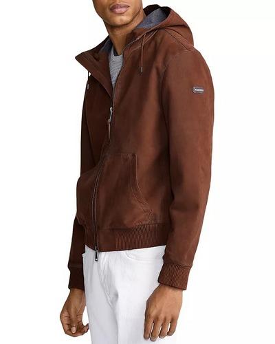 Polo Ralph Lauren Henson brown nubuck leather hoodie
