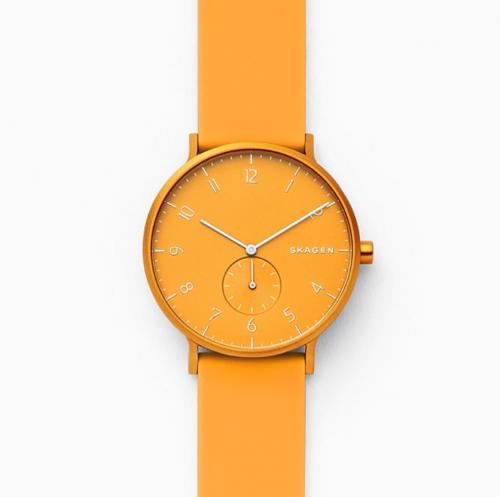 SKAGEN Aaren Kulor Yellow Silicone Watch